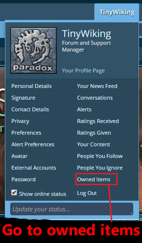 Connect your Steam account to sync your Owned Items