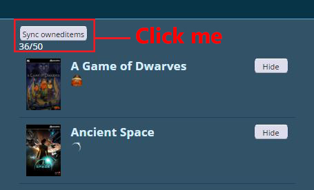 Connect your Steam account to sync your Owned Items! | Paradox