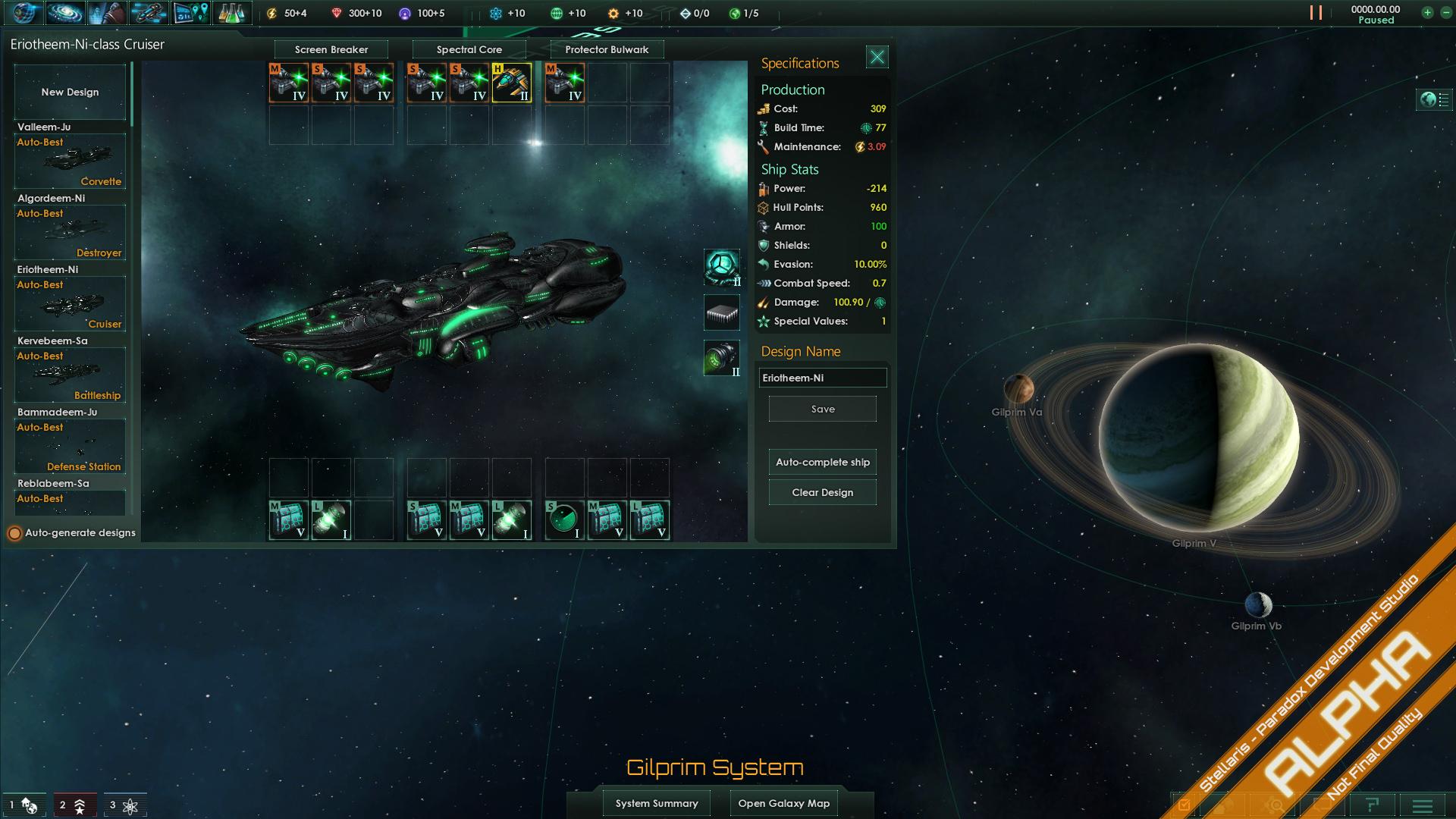 Stellaris Ship Building Design