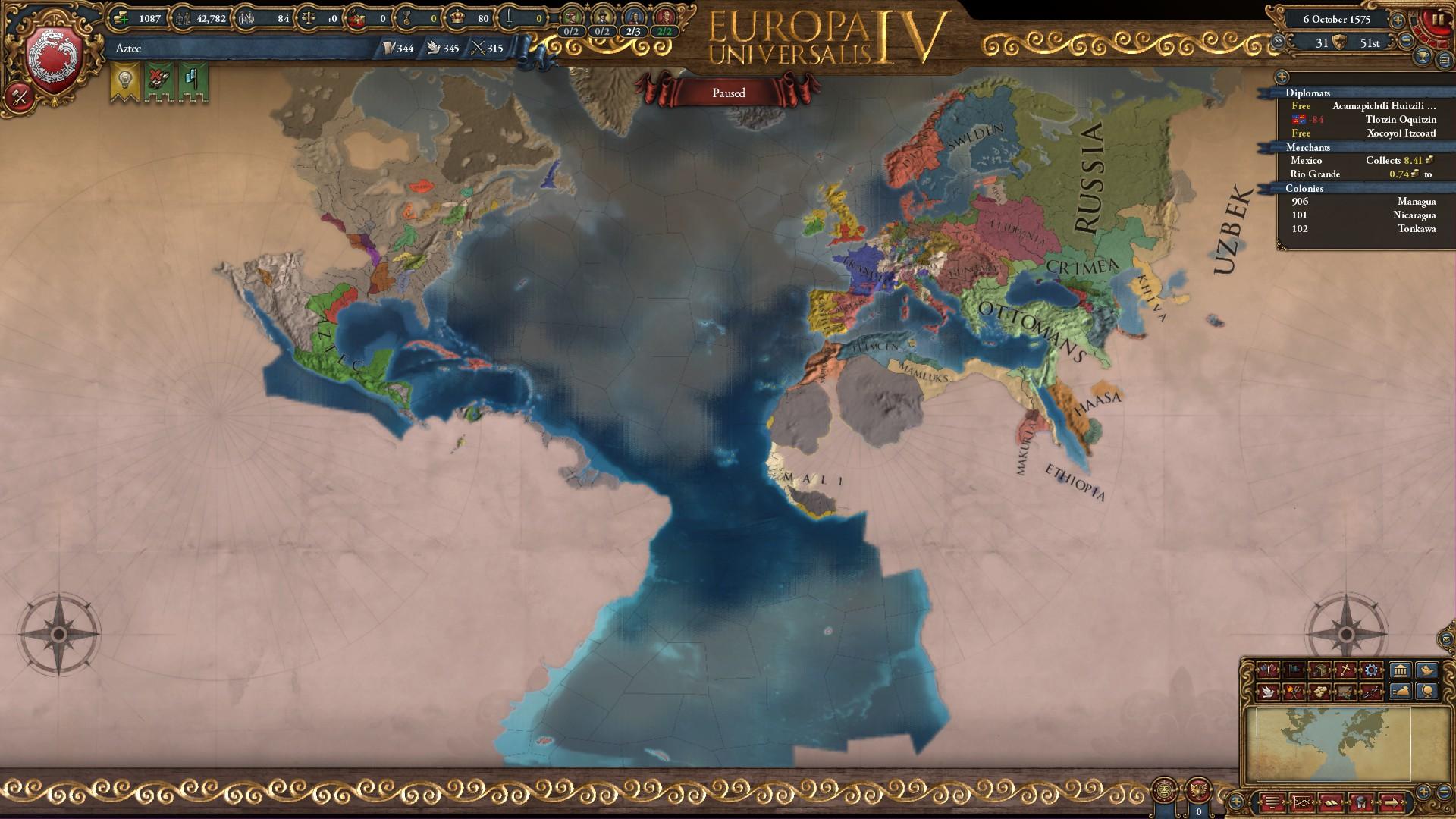 Aztec technology or development | Paradox Interactive Forums