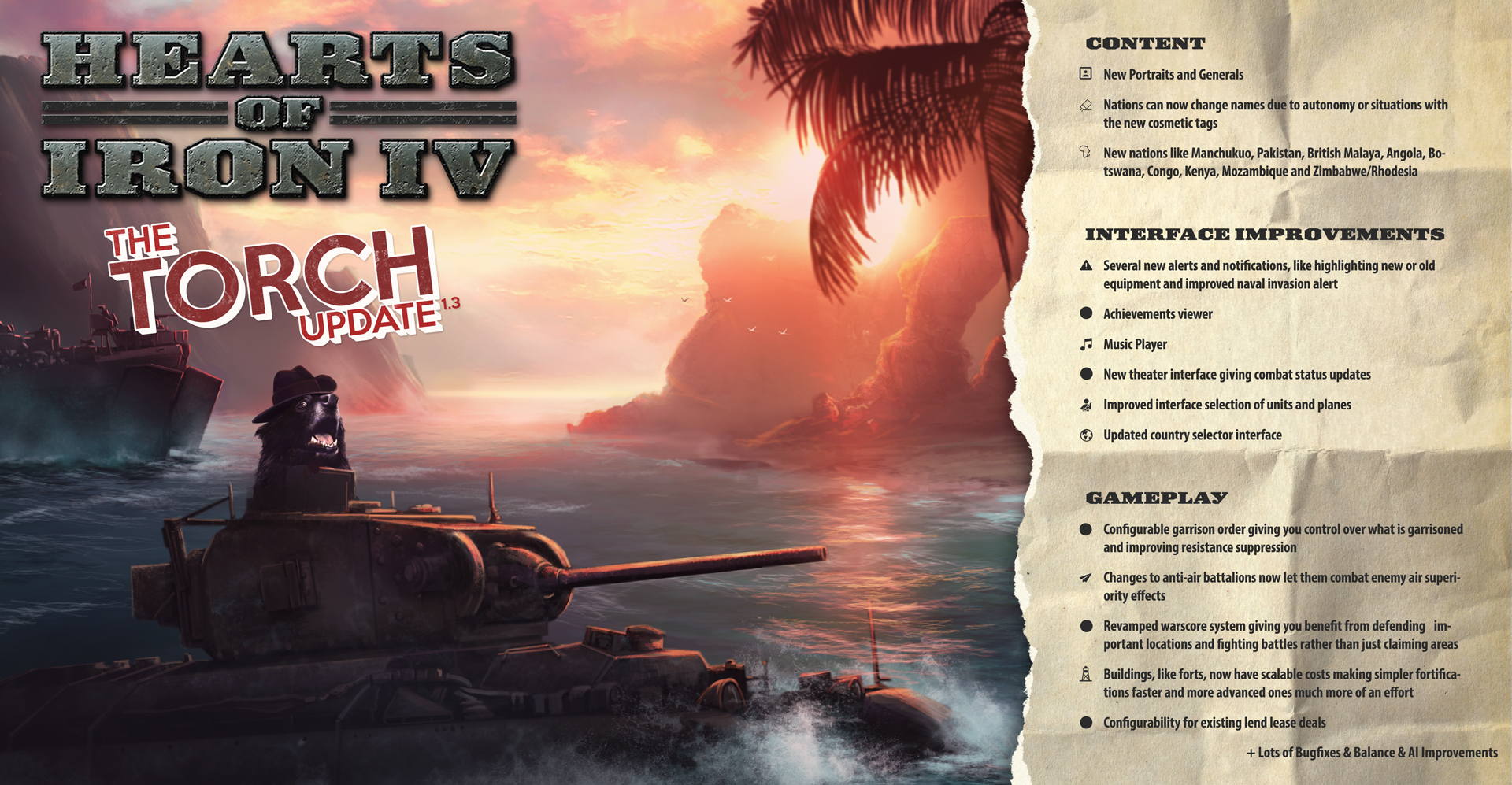 Hearts of Iron IV :: Patch 1 3 - Torch is live now!