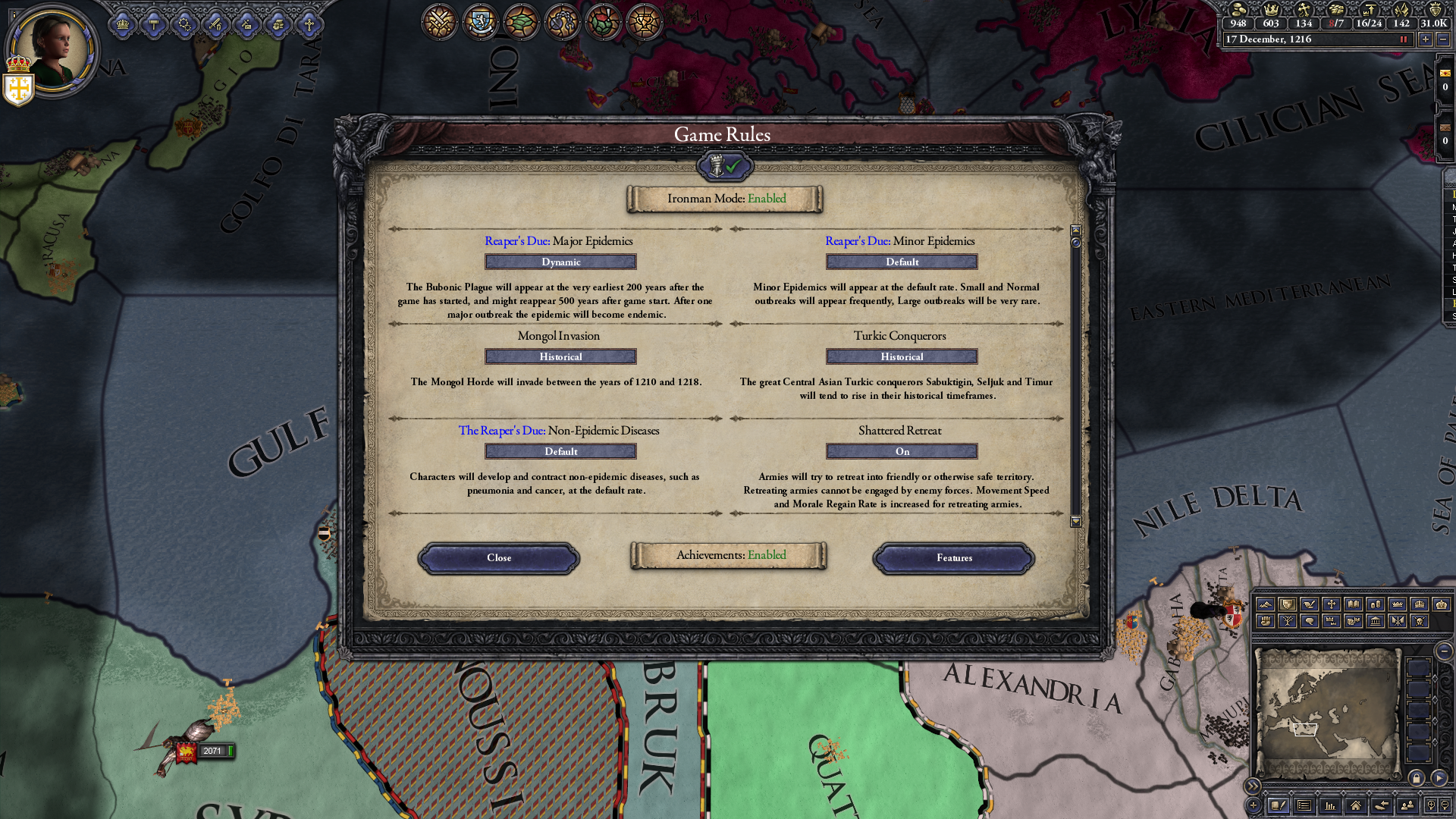 does adding a DLC mid way through an ironman game break achievements
