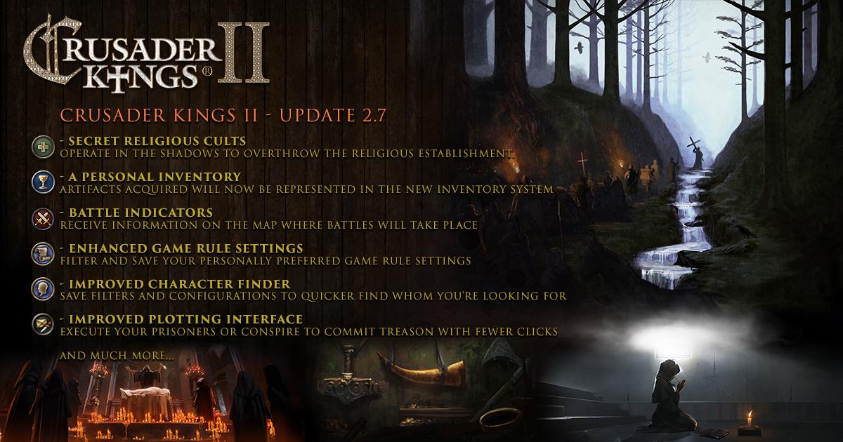 Crusader Kings II: Update 2 7 (free) - Coming March 7th | Paradox