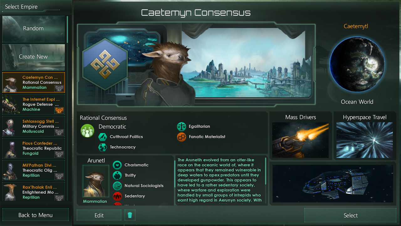 You Otter Keep To What You Know Best: A One Planet AAR