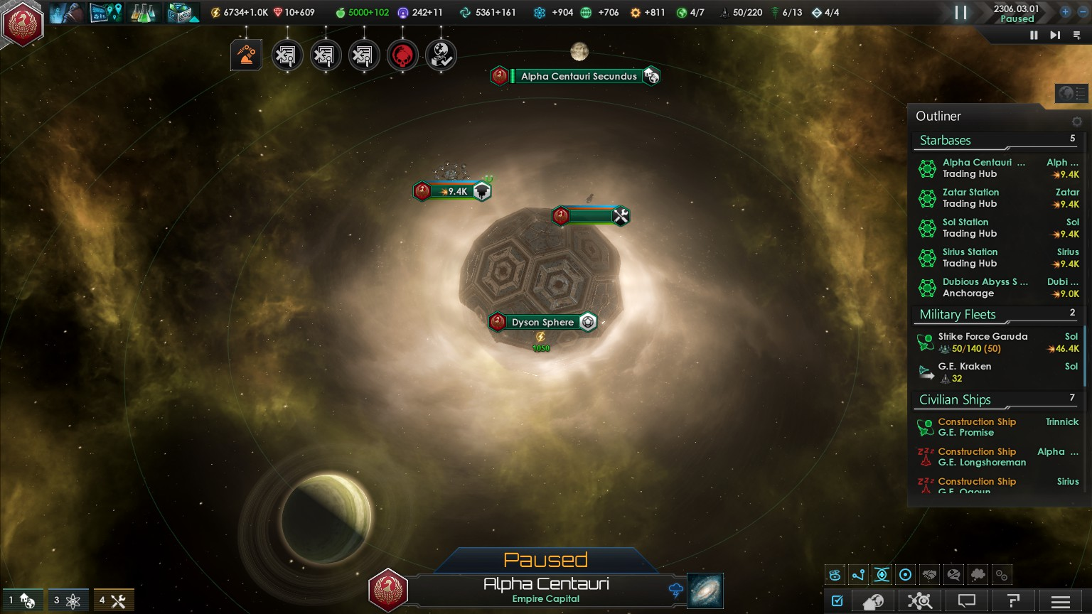 Fun fact you can build a dyson sphere around the blackhole