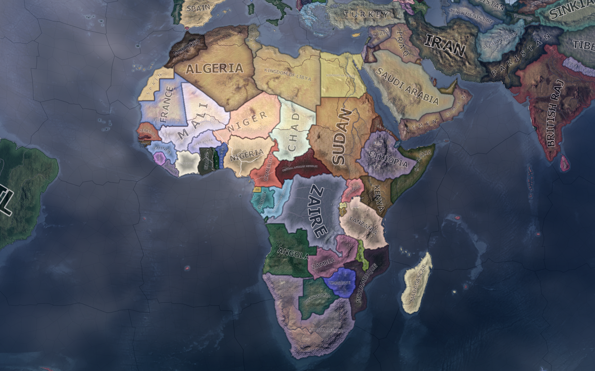 HoI4 Dev Diary   A Post Colonial World: Map Changes and New Tags