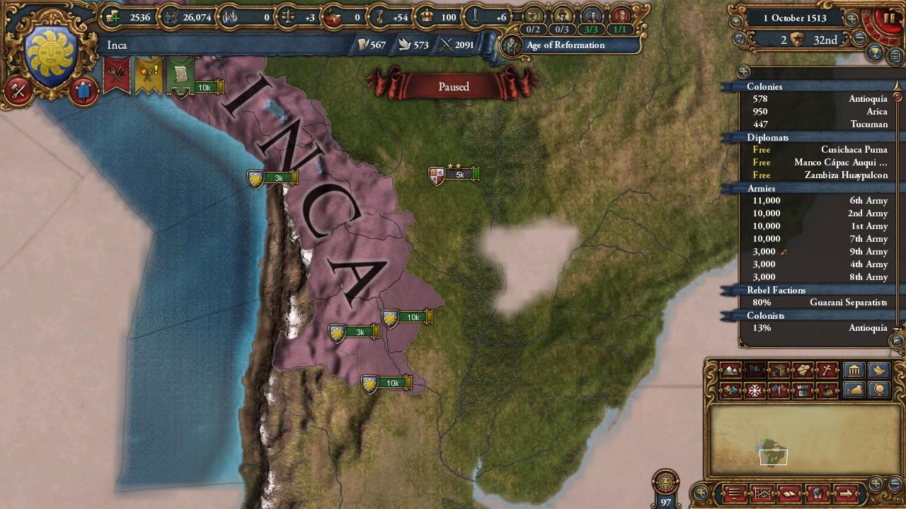 A Sun God - Cusco AAR (1 25) | Paradox Interactive Forums