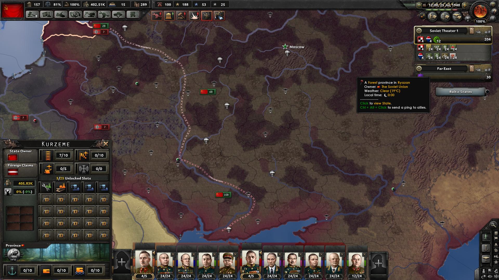 How do you set up a defense as Soviet Union? | Paradox