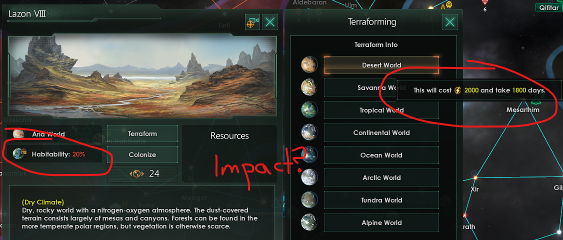 Request: Show habitability in the terraform list | Paradox