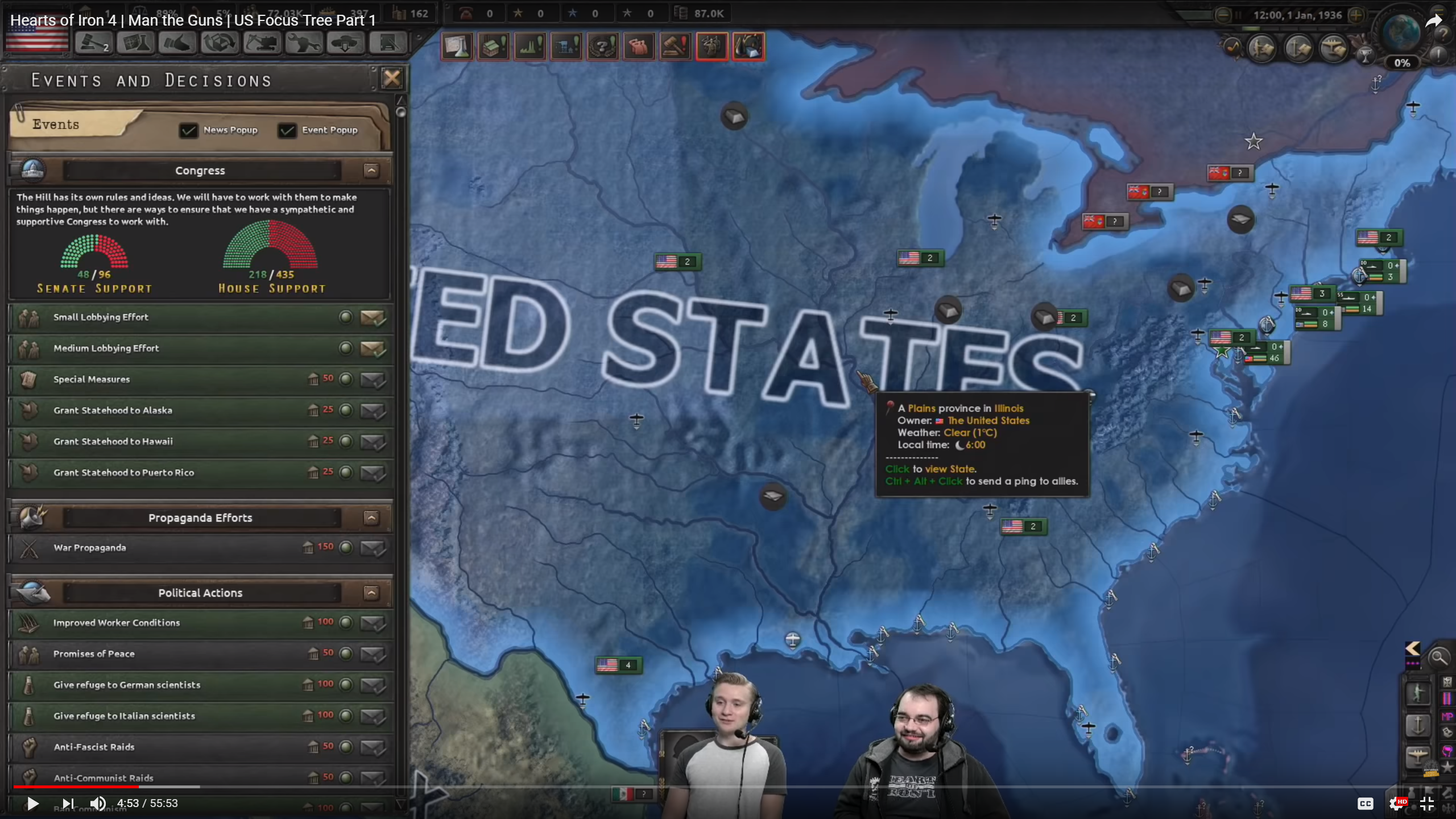 Problems With and Questions About the U S  in Man the Guns