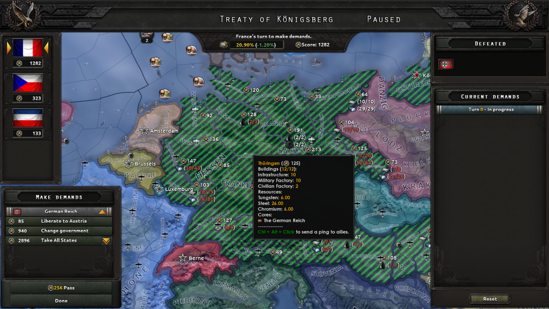 How can I get Big Entente in this Peace Deal? | Paradox