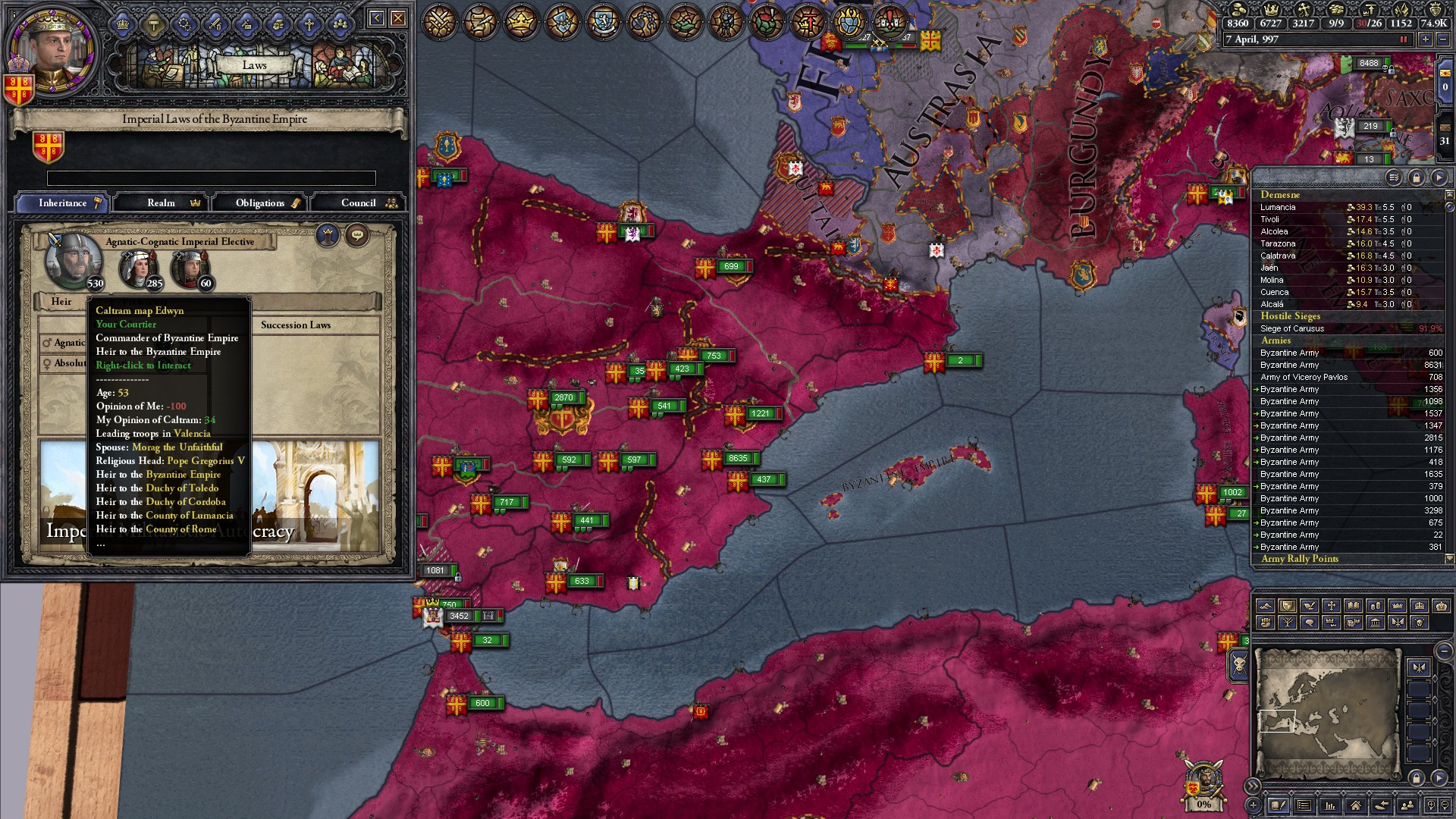 The Byzantine Empire, and how Holy Fury ruined them