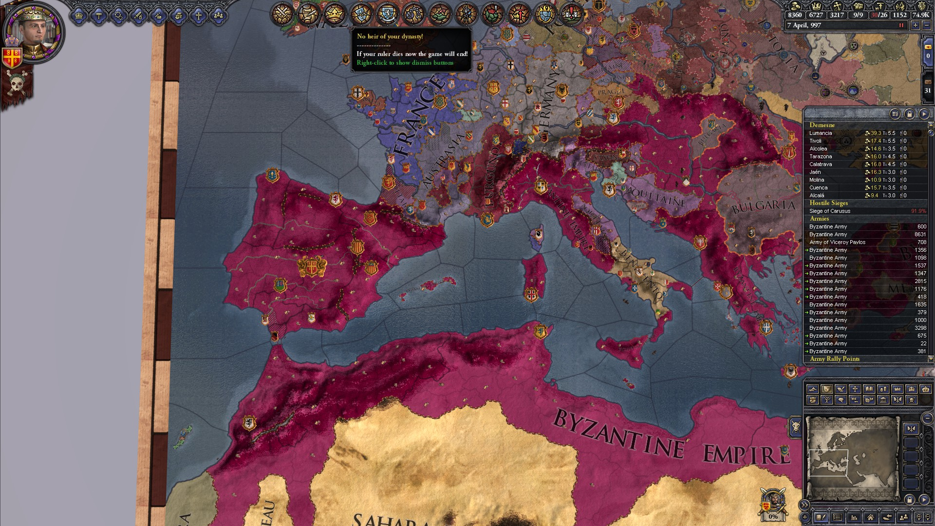 The Byzantine Empire, and how Holy Fury ruined them  | Paradox