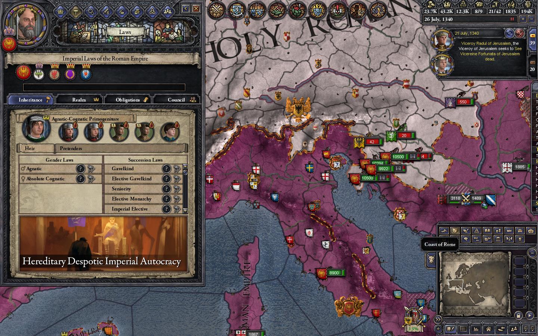 Managed to get primogeniture in Roman Empire | Paradox Interactive