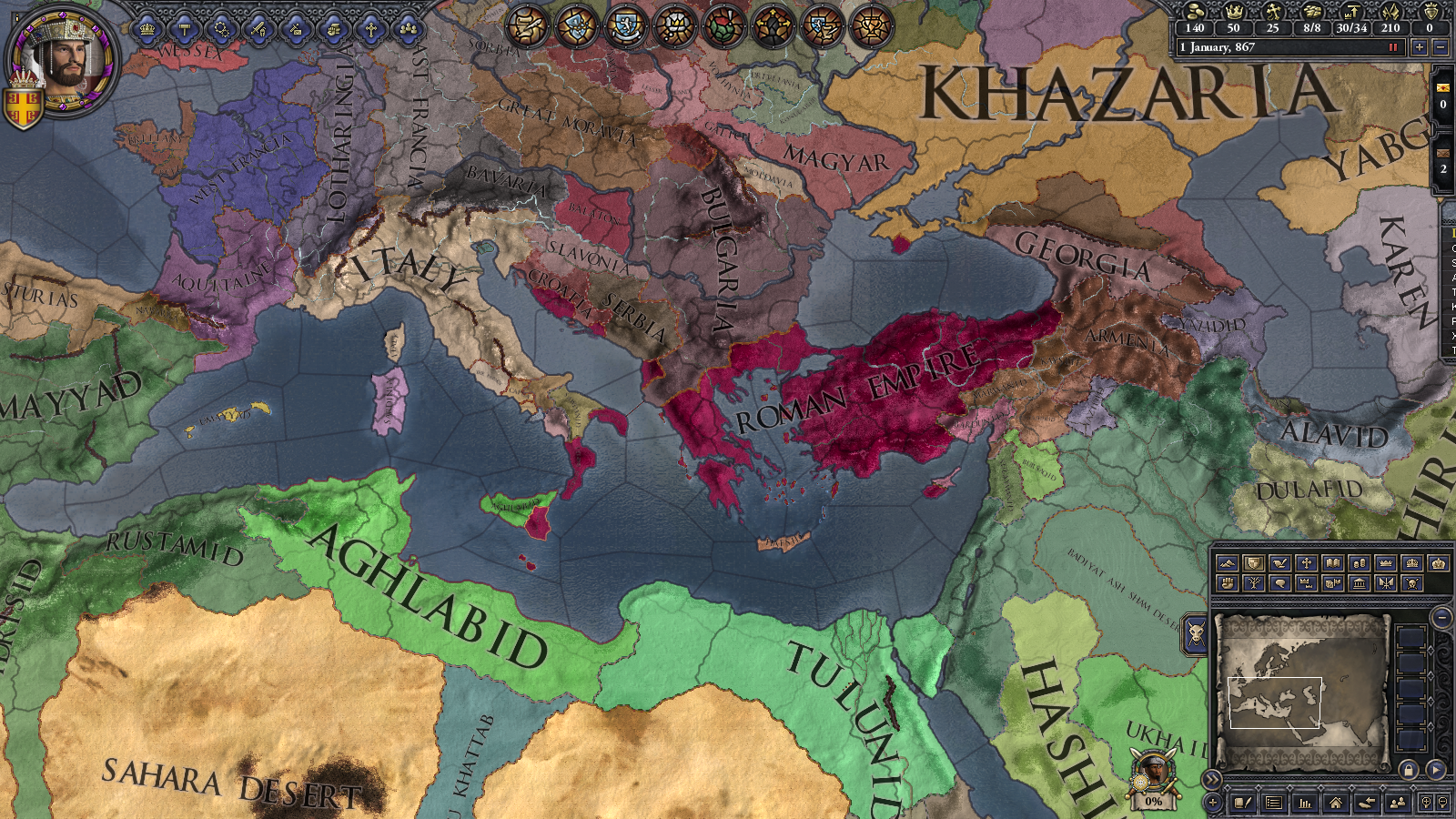 Historically Accurate Byzantine Borders/stuff with Gameplay