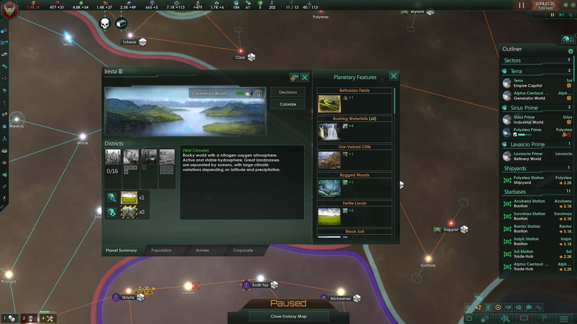 Terraforming and vanishing Districts | Paradox Interactive Forums