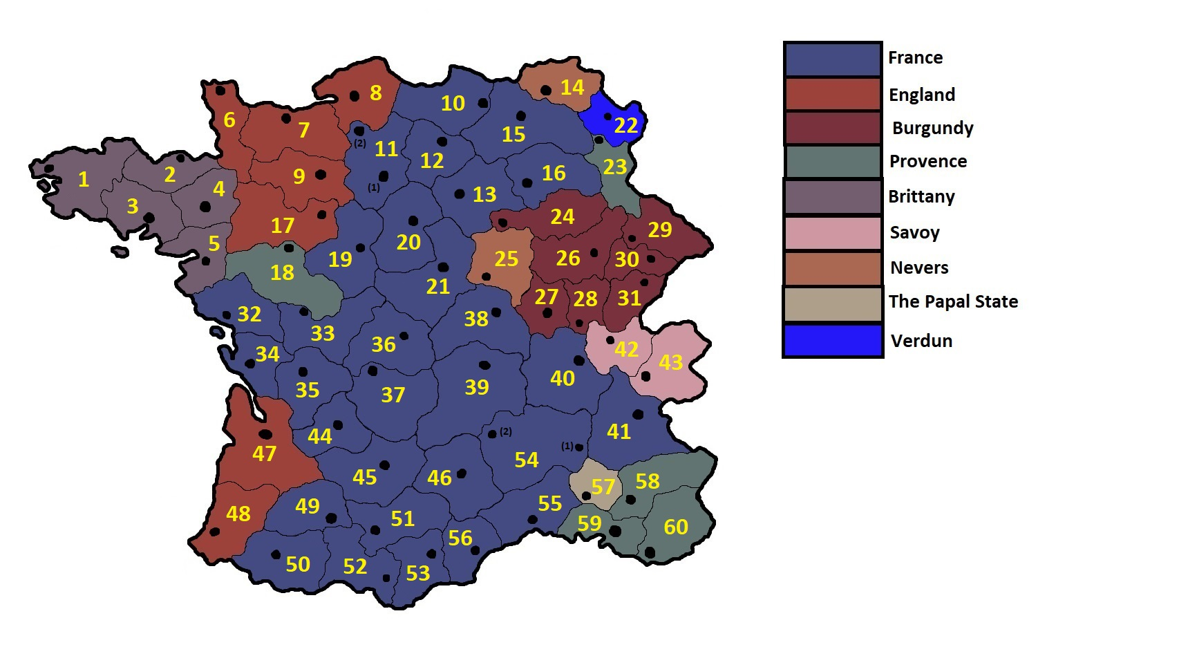 Map Of Provinces In France.1 29 More Provinces For France And Some Corrections Paradox