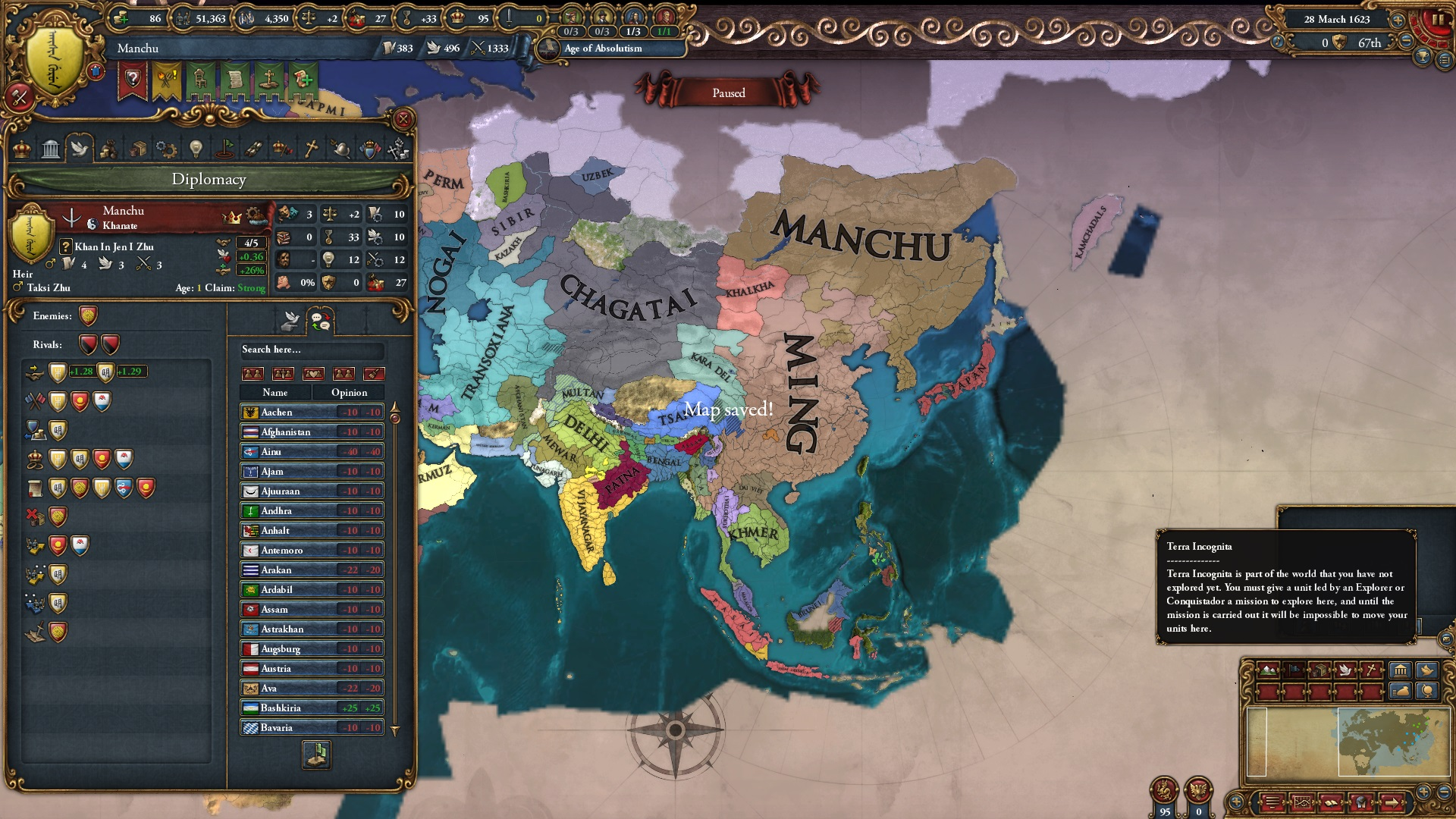 New to Europa Universalis 4, seeking for advice from