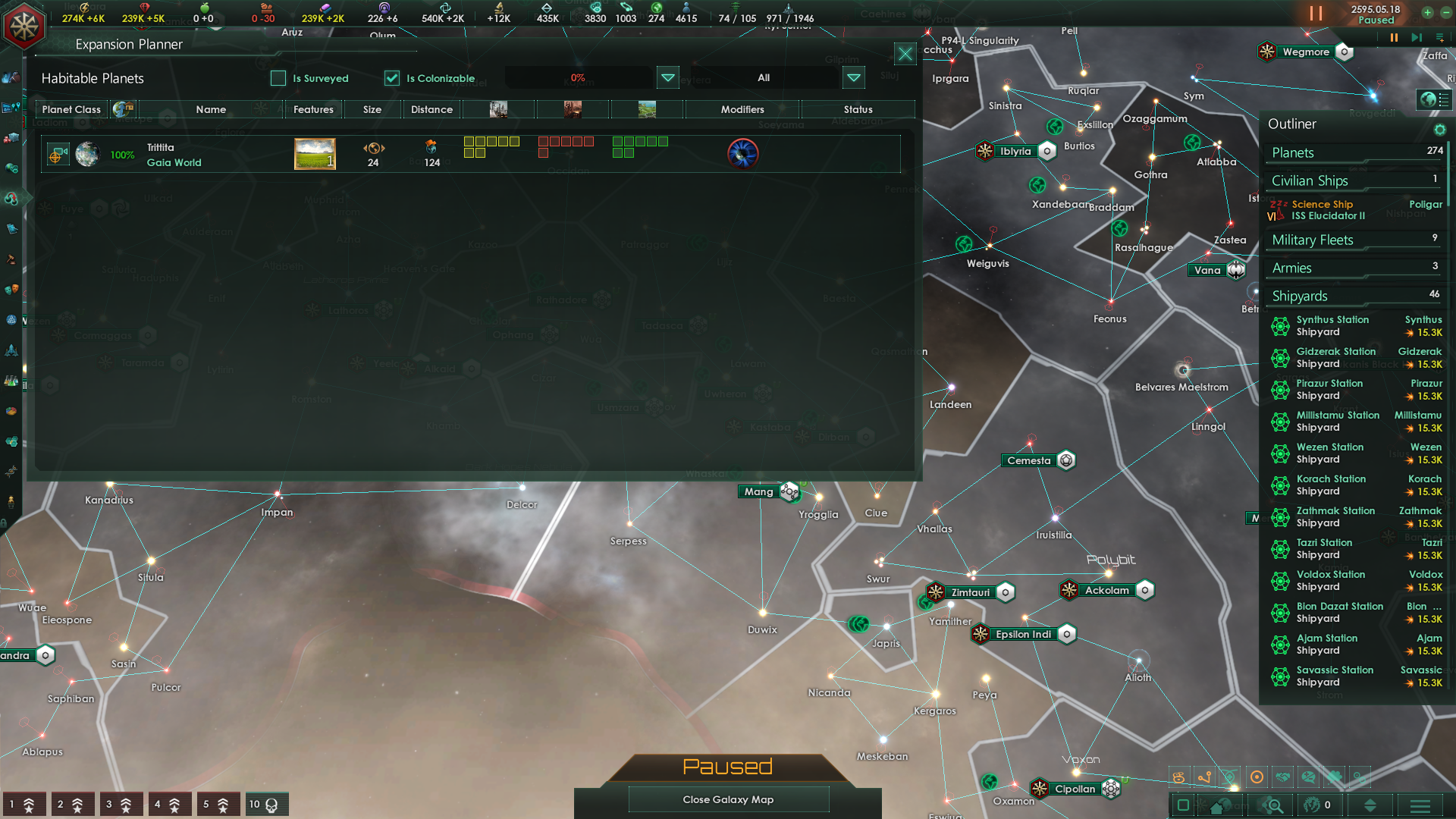 Expansion Planner doesn't show all Planets | Paradox