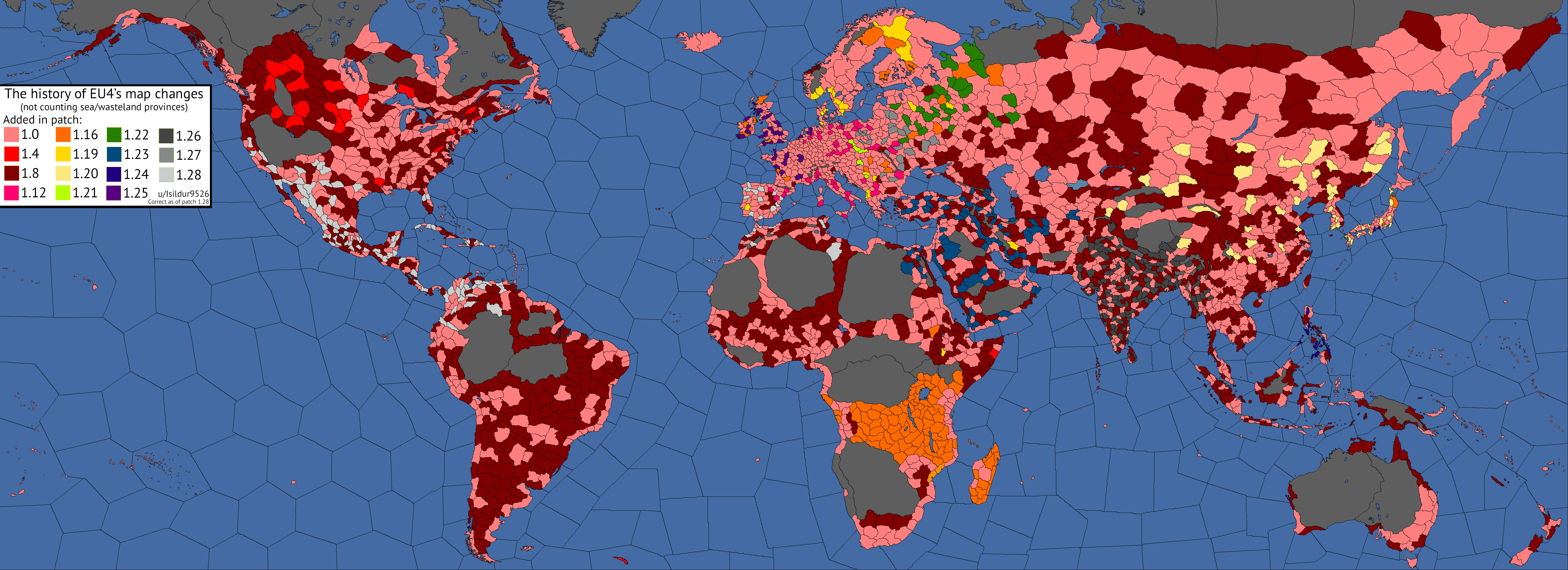 The history of EU4's map changes, visualized | Paradox ... on