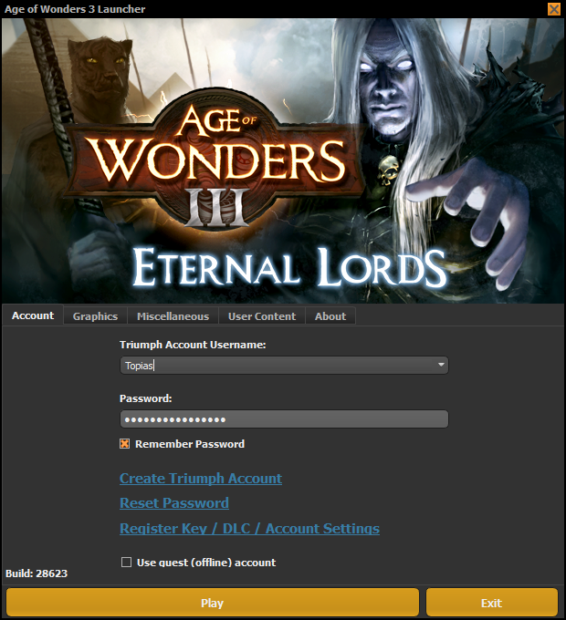 Issue with launcher and Triumph account   Paradox