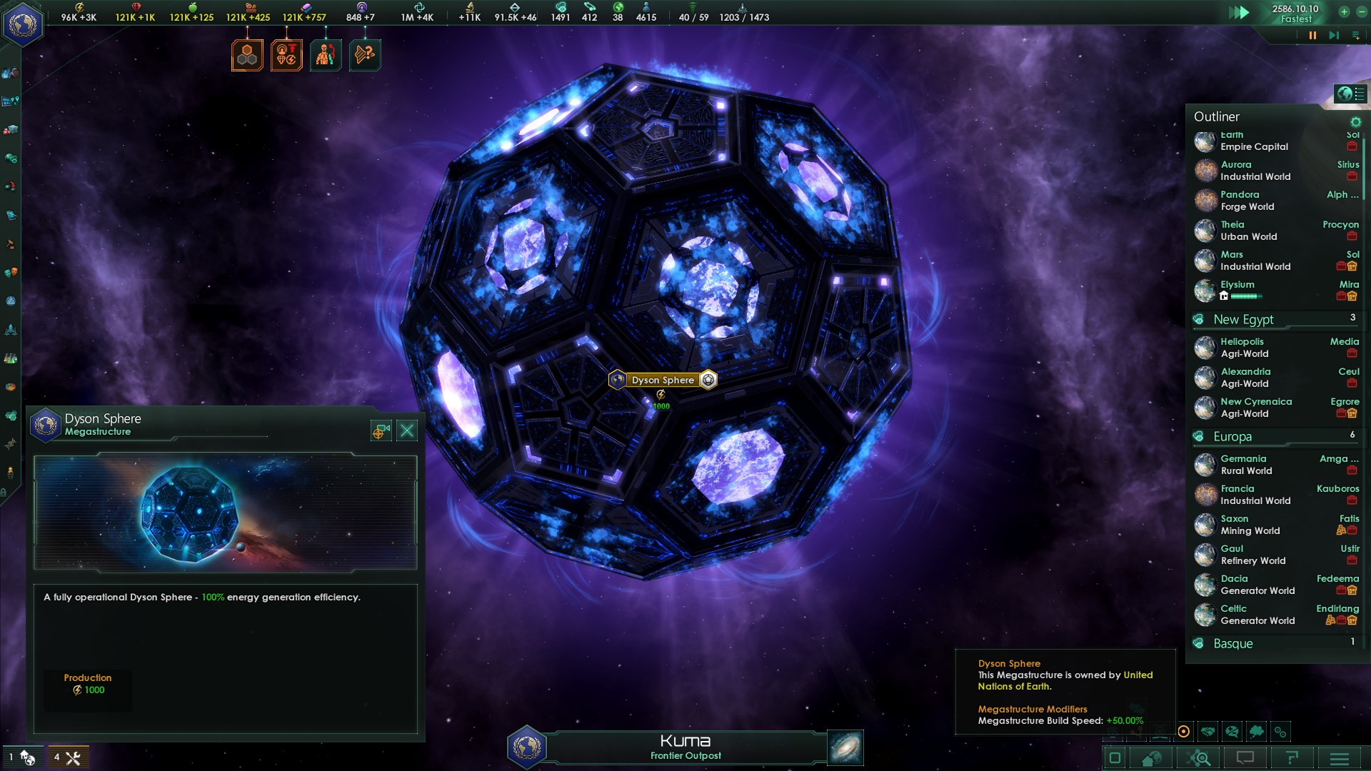Helpful Tip For Building Megastructures Never Build A Dyson Sphere Around B Type Stars Paradox Interactive Forums This command will create the megastructure with the specified id. a dyson sphere around b type stars