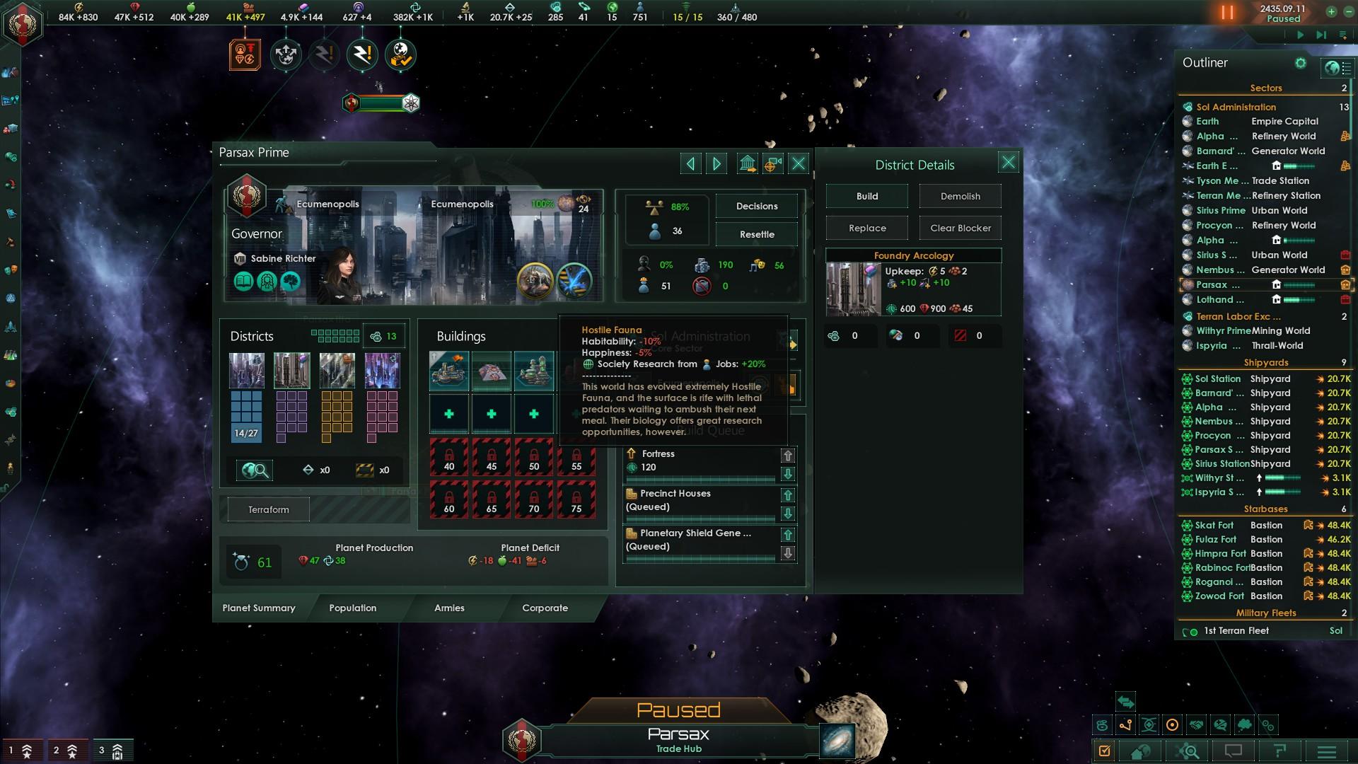 Ecumenopolis conversion & planetary modifiers   Paradox