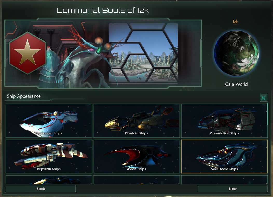 Current Ship Appearance Selection
